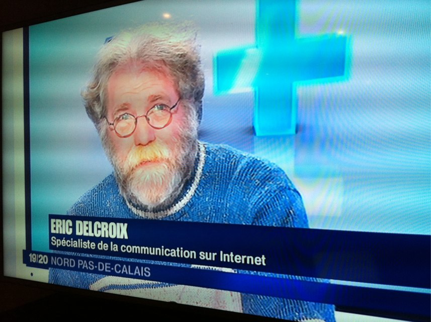Eric Delcroix à France 3 - source Pictulize